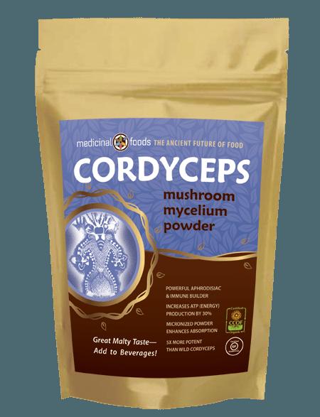 Organic nano cordyceps mushroom superfood mycelium powder