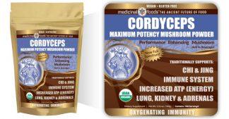 Cordyceps Mushroom Powder Emblem