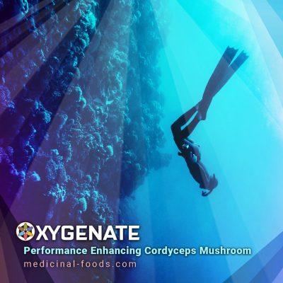 Free Diver Ocean Oxygenating Cordyceps Mushroom Atp