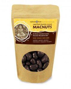 Mood-Enhancing Superfood Chocolate on the Outside,  Crunchy Hawaiian Raw Macadamia Nuts on the inside!