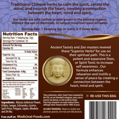 Spirit Tonic Calming Herbs Ingredients Medicinal Foods