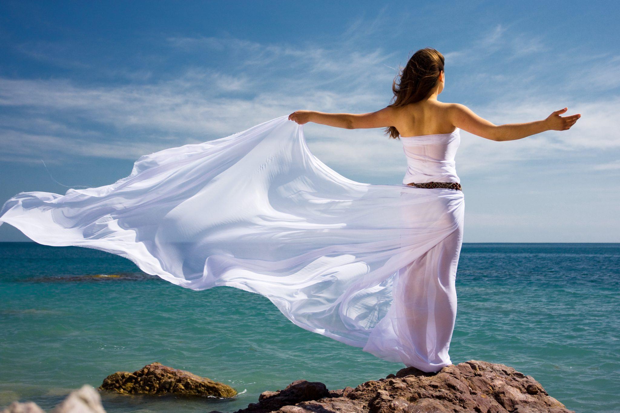 ocean woman wetter water
