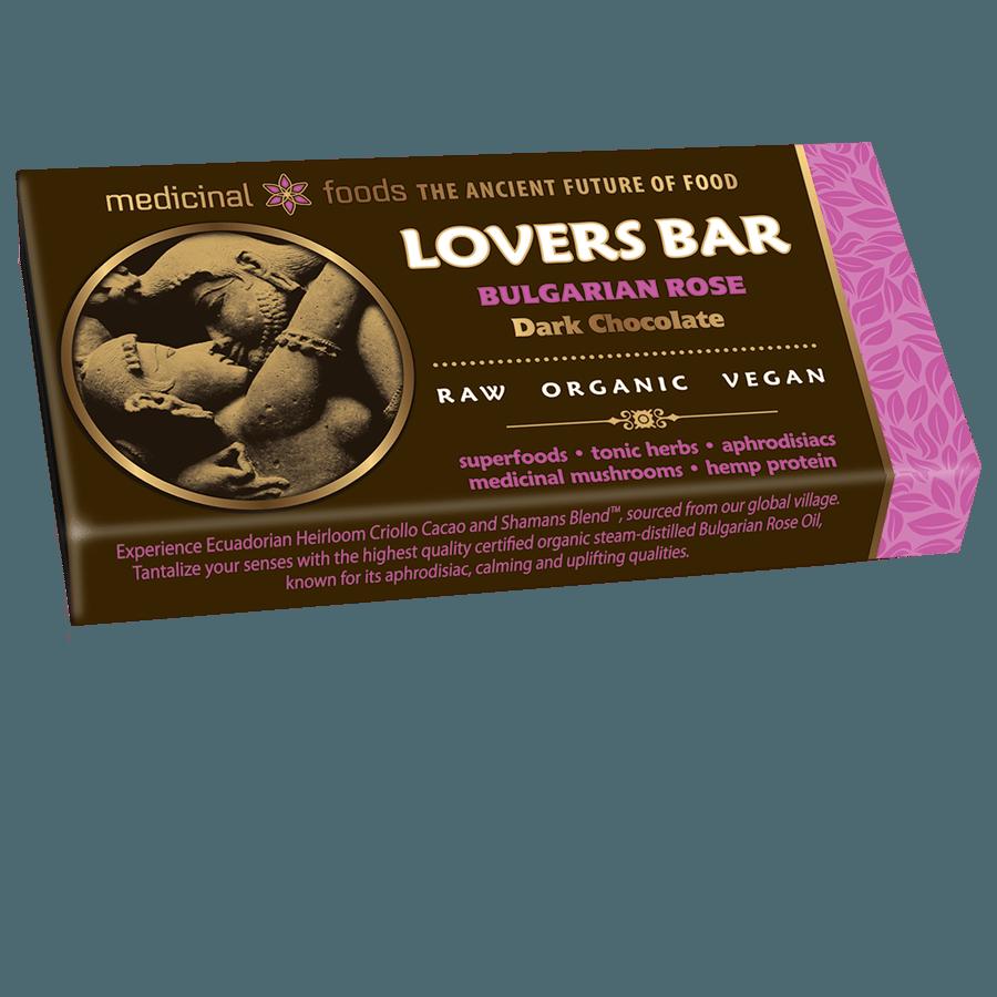 Bulgarian Rose Raw Chocolate Lovers Bar
