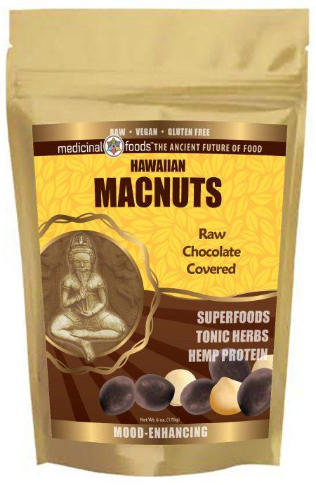 Medicinal-Foods Raw Organic and Vegan Superfood Chocolate Covered Macadamia Nuts
