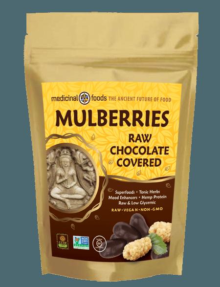 chocolate covered mulberries raw vegan organic