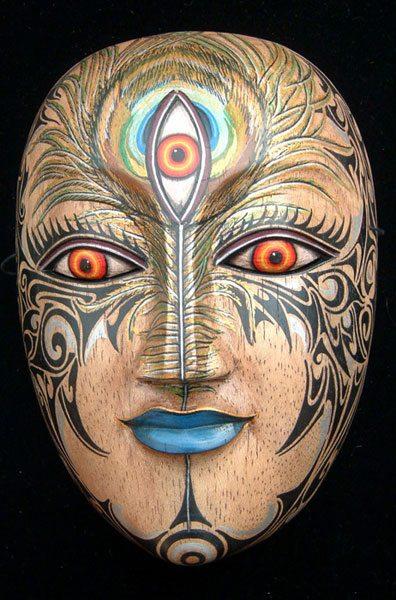 mystic image with 3rd eye, ajna chakra