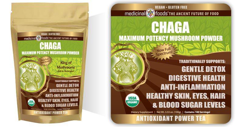 Chaga Mushroom Powder Medicinal Foods