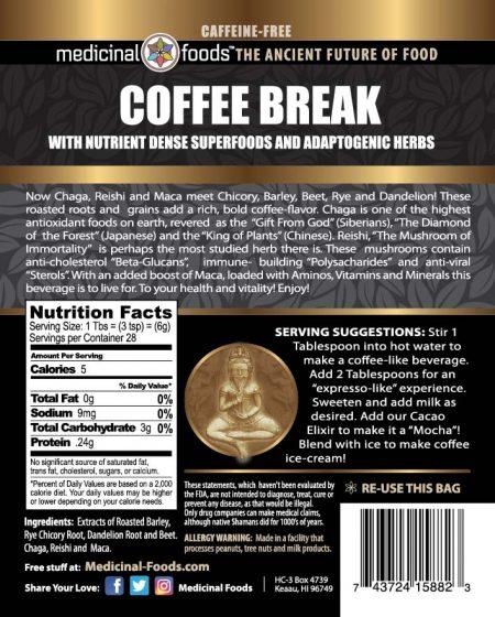 Coffee Break Natural Energy Drink Superfoods Coffee Substitute Back