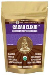 raw cacao superfood elixir with maca mucuna chaga