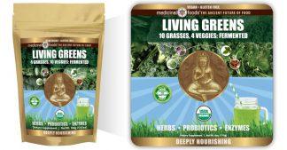 Living Greens Probiotic Green Drink Emblem